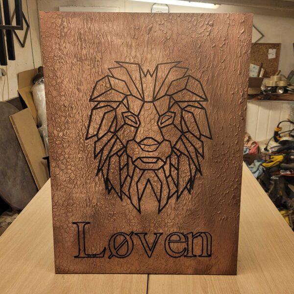 pladeplakat-løven